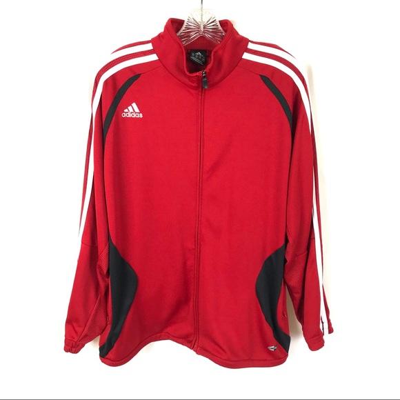 adidas Jackets & Blazers - Adidas full zip track jacket NWOT red black
